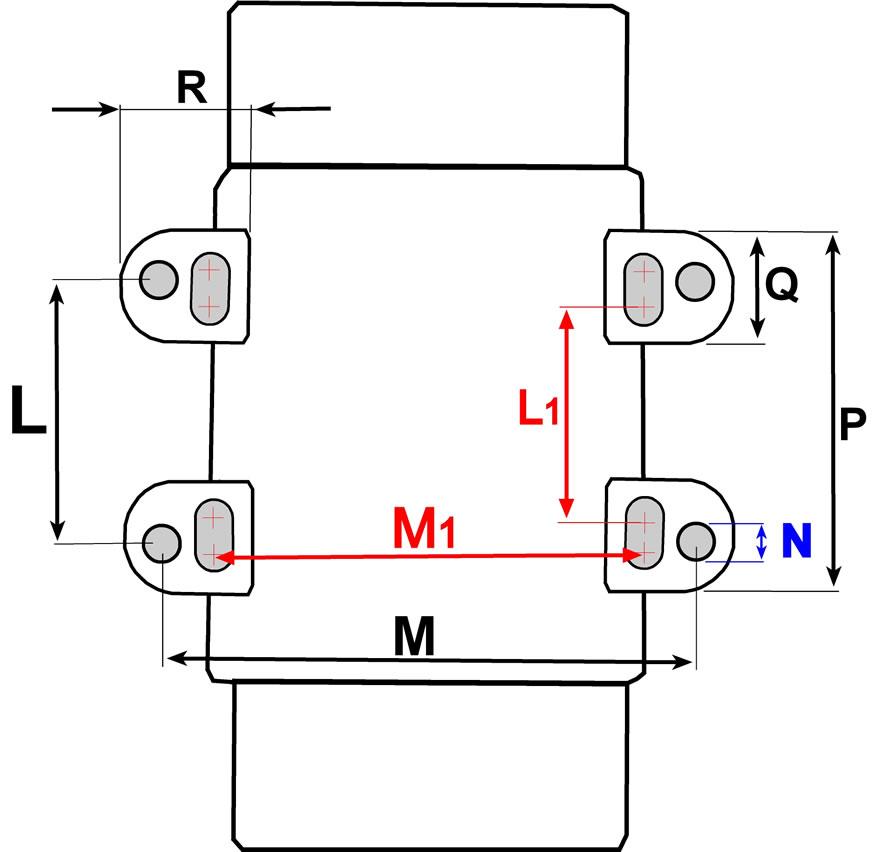 VE3/36/120 VE3/36/250 VE3/36/400 bolt hole diagram