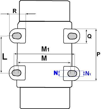 VE3/36/660 Bolt Hole Diagram L-M & L-M1